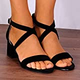 Shoe Closet Ladies Black Faux Suede Barely There Low Heeled Peep Toes Strappy Sandals