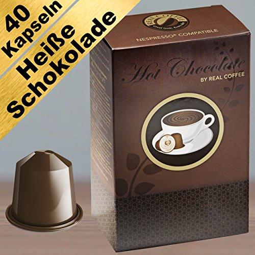 Heiße Schokolade für Nespresso. Cremig und süß. 40 kompatible Kapseln