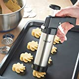 from VonShef VonShef Icing Gun & Biscuit/Cookie Press Cake Decorating Set in Stainless Steel