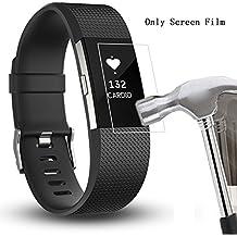 COOSA Film Protection 3Pcs pour Fitbit Charge 2 Protecteur d'Écran Ultra Thin HD Haute Qualité Clair Souple Anti-déflagrant pour Fitbit Charge 2(sans blacelet )