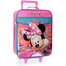 Disney Minnie Smile Equipaje Infantil, 55 cm, 25 Litros, Rosa