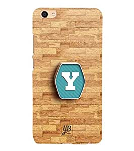 YuBingo Designer Printed Plastic Mobile Back Case Cover Panel for Vivo X7 Plus ( Youthful Letter Y (3D Looking Letter Printed on Plastic) )