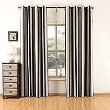 suchergebnis auf amazon.de für: gardine schwarz weiß - Wohnzimmer Mit Streifen Schwarz Wei Grau