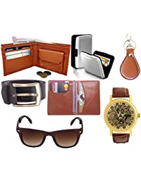 Poland's (Combo Of 7 ) Wallet & Other Complete Men & Boys Accessories Combo. Pu Leather Stylish Branded Wallet...