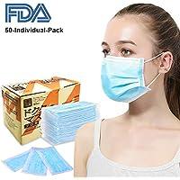 Azmall medizinische Einwegmaske, 3-lagig, 50 Stück, für Zahnarzt, Labor, Lebensmittelherstellung und Haushaltsreinigung... preisvergleich bei billige-tabletten.eu
