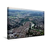 Premium Textil-Leinwand 45 cm x 30 cm quer, Bern - Hauptstadt der Schweiz | Wandbild, Bild auf Keilrahmen, Fertigbild auf echter Leinwand, Leinwanddruck: Bern - Luftaufnahme (CALVENDO Orte)