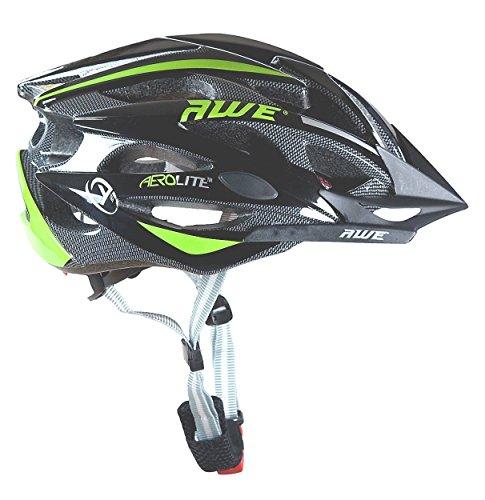 AWE® AeroLite™ Hombres de bicicleta casco - negro/verde, tamaño 56-58cm