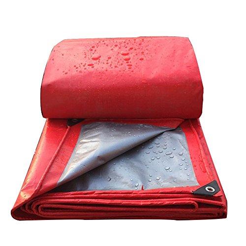 Uus Lona roja, Parasol a Prueba de Lluvia, Cubierta del Coche, Protector Solar, Parabrisas (Espesor 0,4 mm) 200 g/Metro Cuadrado (Tamaño : 3 x 3m)