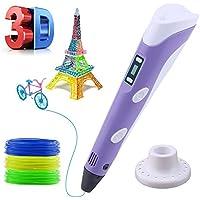 3D Penna Stampa, Lovebay 3D Penna Colorata Tridimensionale Giocattolo Puzzle Dipinto per Bambini (Porpora)