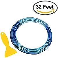 STYLINGCAR Auto Edding Trim Interior Streifen 32ft Gap Filler dekorative flexible Form Trim Streifen Linie Universal Gap garnieren Zubehör mit Installation Tool (blau 10 Meter)