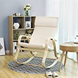 Stillstuhl Songmics in Beige - 4