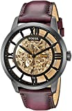 Ƒossil ME3098 Townsman Automatic Brown Skeleton Dial Watch for Men