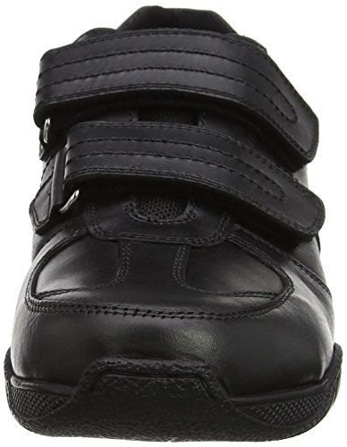 Term Herren Chivers Double Velcro Low-Top Schwarz (Schwarz)