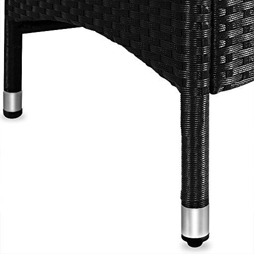 PolyRattan Sitzgruppe 8+1 neigbaren Rückenlehnen Tisch aus Akazienholz Gartenmöbel Gartenset Sitzgarnitur Rattan - 4