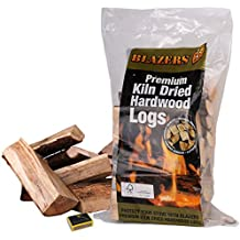 2 Bags of Blazers Kiln Dried Hardwood Logs & Tigerbox Safety Matches. Ideal for Open Fires, Stoves, Wood Log Burners, BBQ & Ovens etc