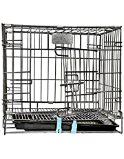 Naaz Pet's Dogs Two Door Folding Dog Cage 36 Inch Large Size, Black