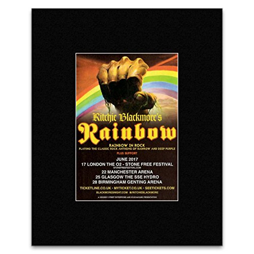 Stick It On Your Wall Mini-Poster Ritchie Blackmore - Rainbow in Rock 2017, 25,4 x 20,3 cm -