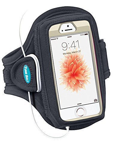 Tune Belt AB84 Armbandbehälter Schwarz Handy-Schutzhülle - Handy-Schutzhüllen (Armbandbehälter, Apple, iPhone, Schwarz) (Iphone 5s Juice Pack Mobile Air)