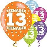 Amscan 990070927,9cm Teenager 13Latex Luftballons