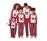 CHRONSTYLE Conjunto de Pijamas Familiares de Navidad, Trajes Navideños para Mujeres Hombres Niño, Ropa Invierno Sudadera Chándal Suéter Niños de Navidad-Bebé