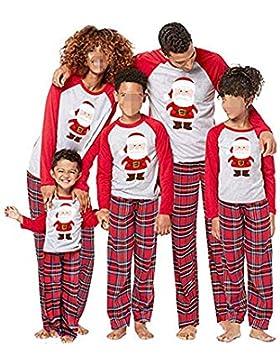 CHRONSTYLE Conjunto de Pijamas Familiares de Navidad, Trajes Navideños para Mujeres Hombres Niño, Ropa Invierno...
