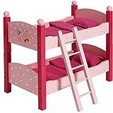 Bayer Chic 2000 513 90 - Puppen-Etagenbett mit Matratzen, Bettdecken und Kopfkissen, Papilo pink
