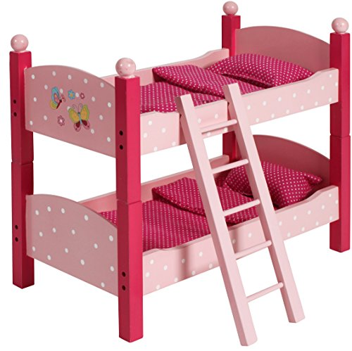 Preisvergleich Produktbild Bayer Chic 2000 513 90 - Puppen-Etagenbett mit Matratzen, Bettdecken und Kopfkissen, Papilo pink