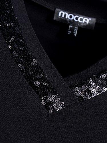 Mocca by J.L. Damen 3/4 Arm Shirt mit Pailettenpaspel Schwarz