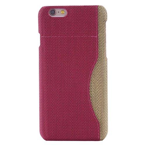 iPhone Case Cover Mélangez et comparez la housse de couleur avec le support de carte pour iPhone 6 6S ( Color : Charming Red , Size : IPhone 6 6S ) Rose Red