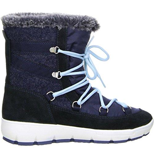 M&G Damen Winterstiefel Snowboots gefüttert blau Blau