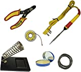 #7: Generic 6 in1 Electric Soldering Iron Stand Tool Wire Stripper Kit 25 Watt Welding Stick Set