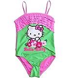 Hello Kitty Badeanzug Kollektion 2018 Badesachen 92 98 104 110 116 122 128 Mädchen Schwimmbekleidung Sommer (Rosa-Grün, 116)