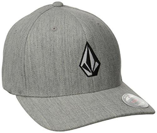 Volcom Full Stone Hthr Xfit Cap Baseballmütze Flexfit Grau Schildmütze, Grey Vintage, S/M (Flexfit Mützen Für Herren Volcom)