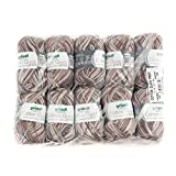 Gründl Cotton Quick print Wolle, Baumwolle, braun multicolor, 35 x 24 x 7 cm
