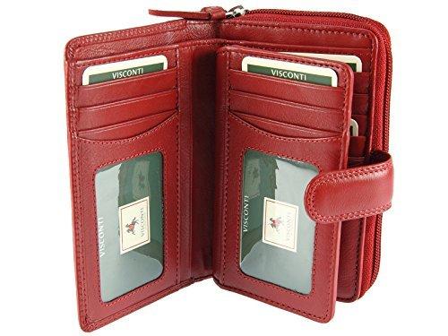 Visconti Heritage Collection MADAME Porte-monnaie avec Fermeture de Languette en Cuir HT33