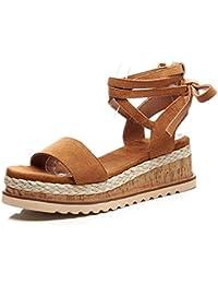 KJJDE Zapatos con Plataforma Mujeres WSXY-L0625 Sandalias Mujer Zapatilla Chanclas de Moda Confort Peep Toe Tacón...
