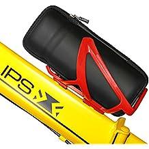 Ciclismo Herramienta Botella con cremallera bolsa, supmaker portátil negro cápsula de herramientas bolsillo de herramientas de reparación de bicicleta para MTB bicicleta de carretera bicicleta híbrida resistente al montar accesorios–lluvia