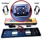 M&G Techno Auto Einparkhilfe Rückfahrkamera Nummernschild Kennzeichen Nummernschildhalter Kennzeichenhalter mit Funk Set