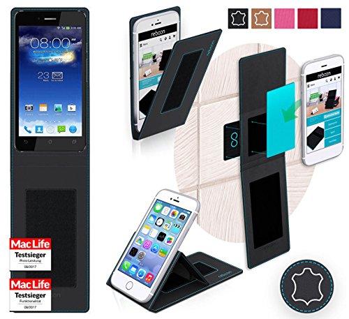 reboon Hülle für Asus PadFone Infinity Tasche Cover Case Bumper | Schwarz Leder | Testsieger