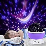 LED Star Projektor, Ubegood Projektor lampe Romantische Nachtlicht 360 Dreht Grad Sternenhimmel Projektor 4 pcs LED-Kornen Perfekt für Geburtstag,Parteien,Kinder Zimmer,Weihnachten,Hochzeit - Purple