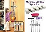 #5: Electomania Magic Holder Broom & Mop Organizer Heavy Quality Mop & Broom Holder