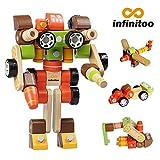 infinitoo Macchina Robot Set Costruzioni Costruzioni Creativo Giochi Bambini Scoprire la Modalità Tridimensionale Multi-Azimuth per Bambini Più di 3anni