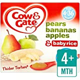 Cow & Gate Pears, Bananas, Apples and Baby Rice Fruit Pots 4 x 100g