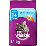 Whiskas Hairball Control Adult Cat Food, Chicken And Tuna, 1. 1 Kg K