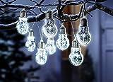 Lichterkette Glühbirne Gartenbeleuchtung Dekolicht Garten Weihnachten Licht Gartenlicht Gartendeko Deko Garten ABC Home Dekoleuchte Dekolampe Weiß