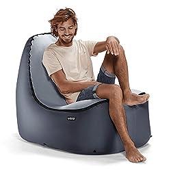 TRONO Aufblasbarer Loungesessel Sitzsack Camping Outdoor Stuhl Luftsessel Sofa Couch