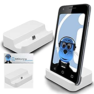 White Micro USB Sync & Charge / Charging Desktop Dock Stand Charger For HTC Desire 501