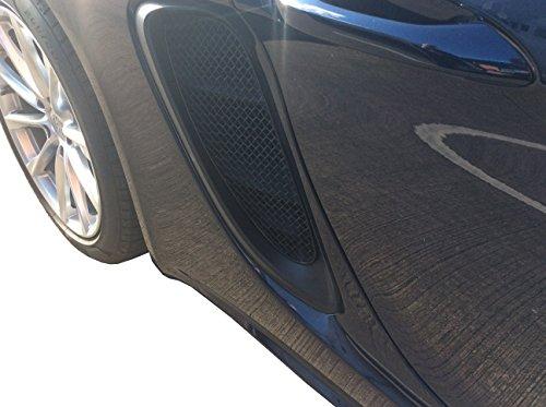 Zunsport Compatible avec Porsche 718 Boxster S and Cayman S - Ensemble calandre Prise d'air latérale - Finition Noir (2016 à 2018)