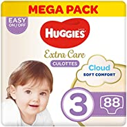 Huggies Extra Care Pants - Size 3, Mega Pack, 6-11 kg, 88 Diapers Pants