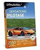 Wonderbox – Coffret Cadeau Homme SENSATIONS PILOTAGE – 2550 stages de pilotage en Ferrari F458, Lamborghini Gallardo, Porsche, Aston Martin pour 1 à 4 personnes sur des circuits mythiques